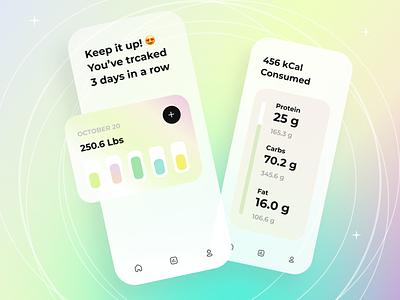 Mobile app concept health sport app illustration ux design mobile ios gradient apps ui
