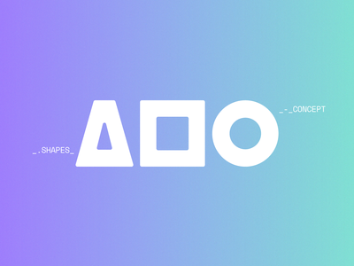 Aula Visual modular design shapes logo branding