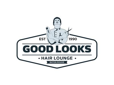 Logo Design For Barber Shop branding vector illustration illustrator logo design graphic design banner ads logo design