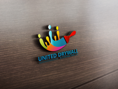 United Drywall & Contracting LLC Logo branding vector illustration logo design illustrator graphic design logo design
