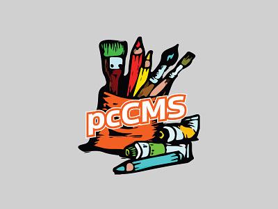 pcCMS Logo branding logo design graphic design design illustrator logo vector illustration