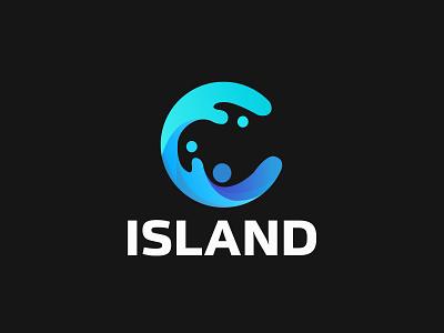 Island Logo logo design graphic design branding illustrator design logo vector illustration