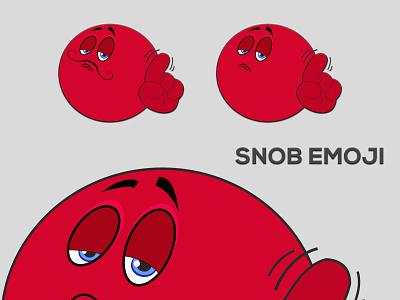 Snob Emoji graphic design emoji illustrator vector illustration design