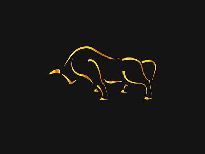 Golden Bull creative logo design logo graphic design illustrator vector illustration design