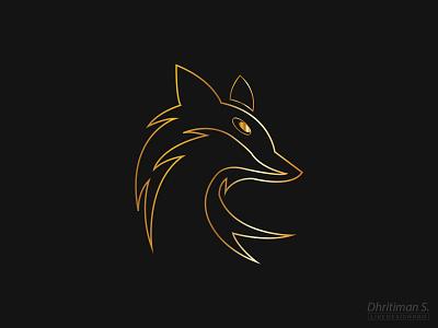 Golden Fox Vector Art creative branding logo design logo graphic design illustrator vector illustration design