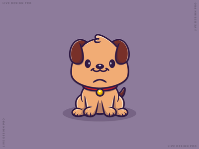 Cute Dog Mascot cartoon mascot logo graphic design illustrator vector illustration design