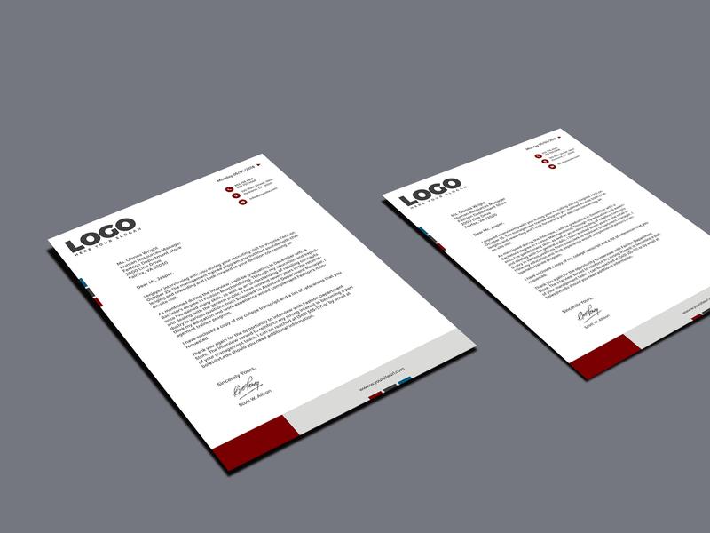 Professional Letter Header flyer design banner ads letterhead fonts letterhead template letterhead design letter header design
