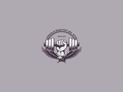 Fitness & Health Club - Gym Logo blue american express vector illustration design logo