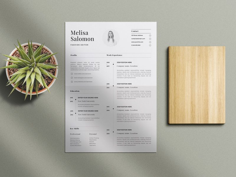 Free Elegant Apple Pages and MS Word Resume Template doc free resume template design resume freebie freebies