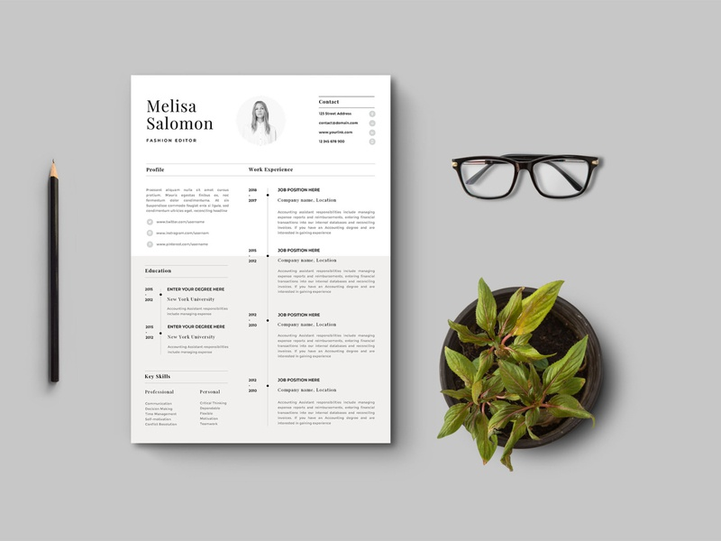 Free Apple Pages Resume Template free resume template design resume freebie freebies