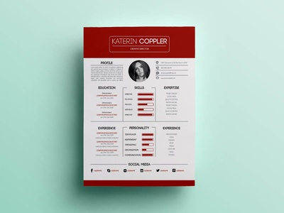 Free Red Resume Template photoshop psd free resume template design resume freebie freebies free red resume template