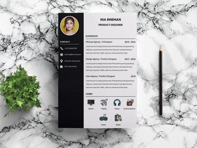 Free Product Designer Resume Template with Clean Look free resume template design resume freebie freebies