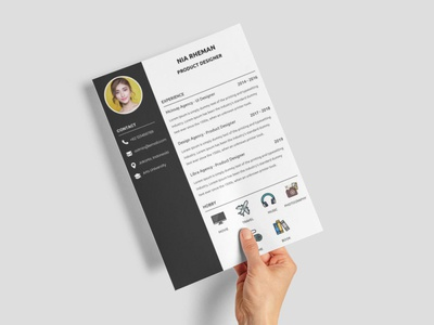 Free Product Designer CV Template doc free resume template design resume freebie freebies