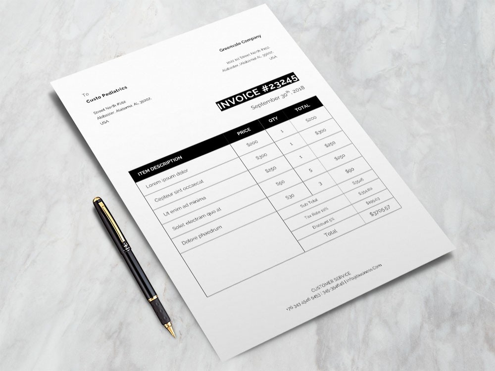 Free Formal Invoice Template formal invoice formal design invoice invoice design bill template free bill template free billing template freebies freebie doc billing