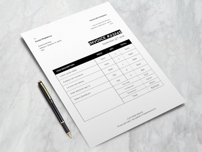 Free Formal Invoice Template