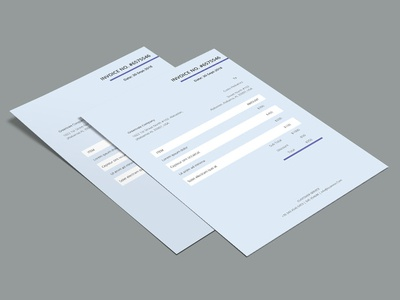 Free Blue Invoice Template