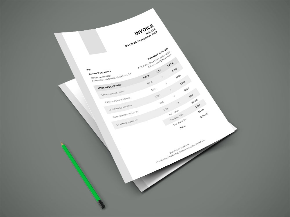 Free Invoice Design Template freelance freelancer invoice formal invoice free invoice template design free bill template bill template invoice design invoice free billing template freebies freebie doc billing