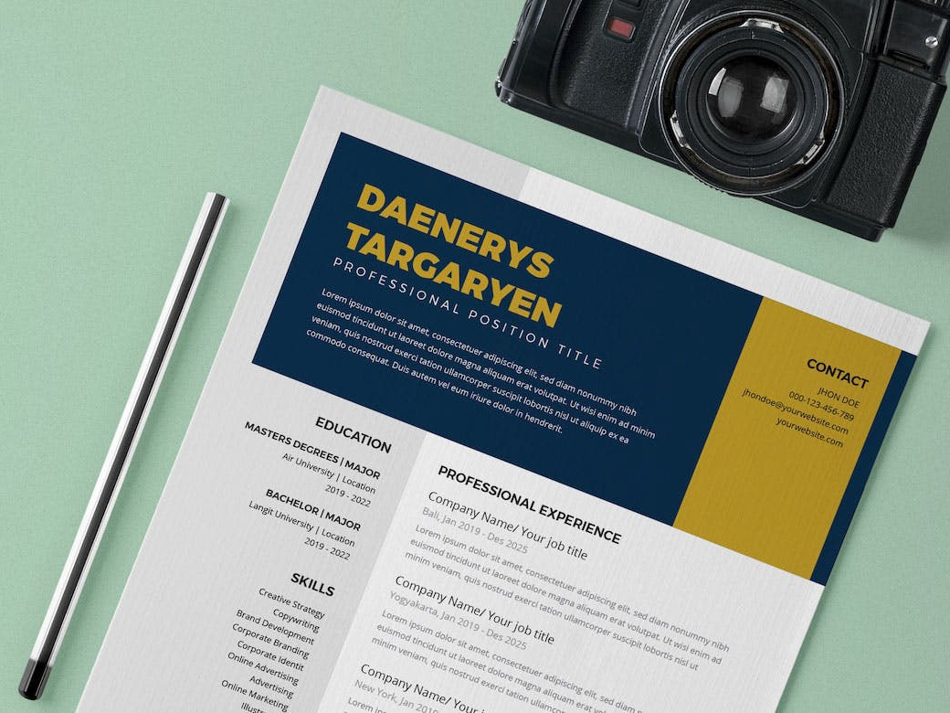 Free Resume Template For College Student By Alan Henderson On Dribbble