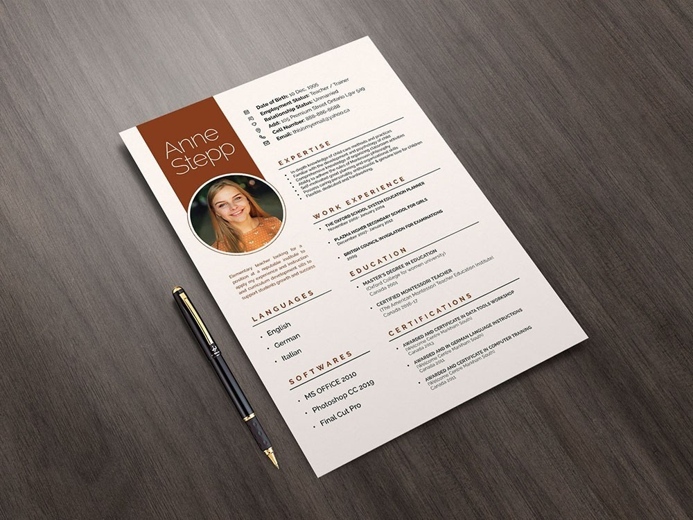 Free Teachers And Instructors Resume Template By Alan