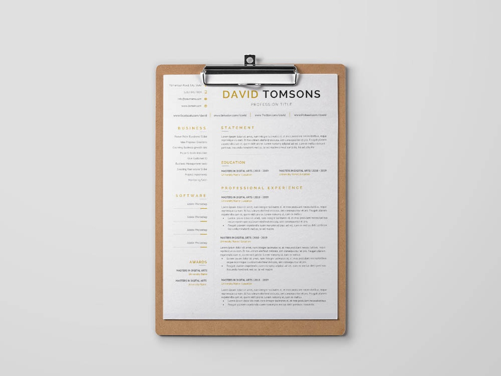 Free Receptionist Resume Template By Alan Henderson On Dribbble