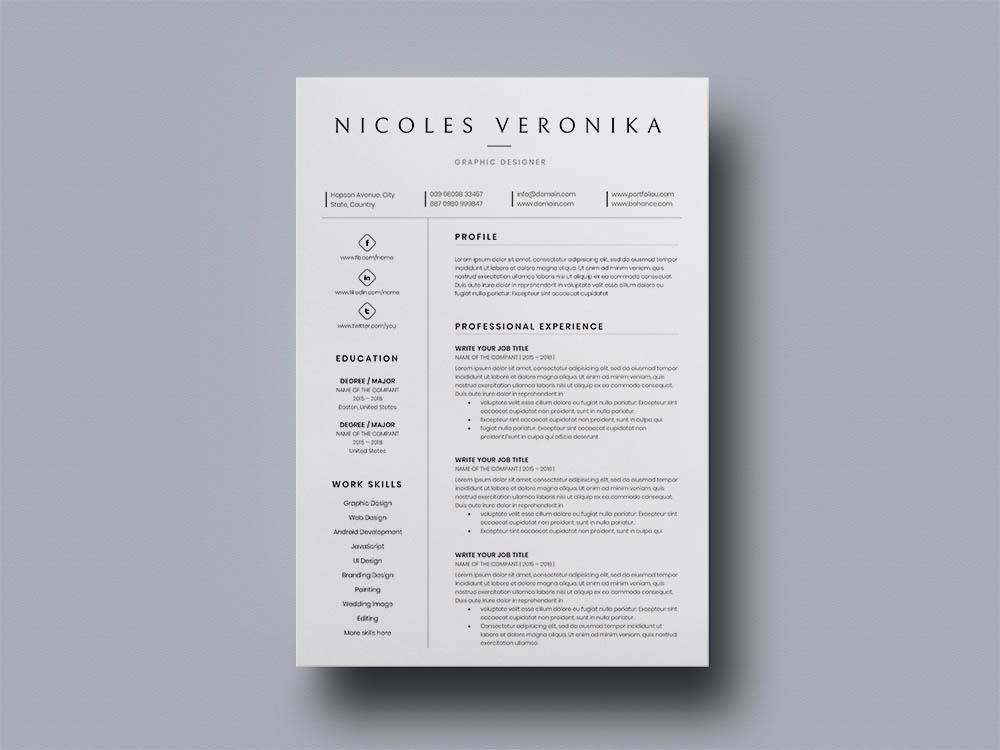Free High School Student Resume By Alan Henderson On Dribbble