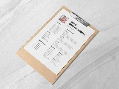 Free Clean CV/Resume Template