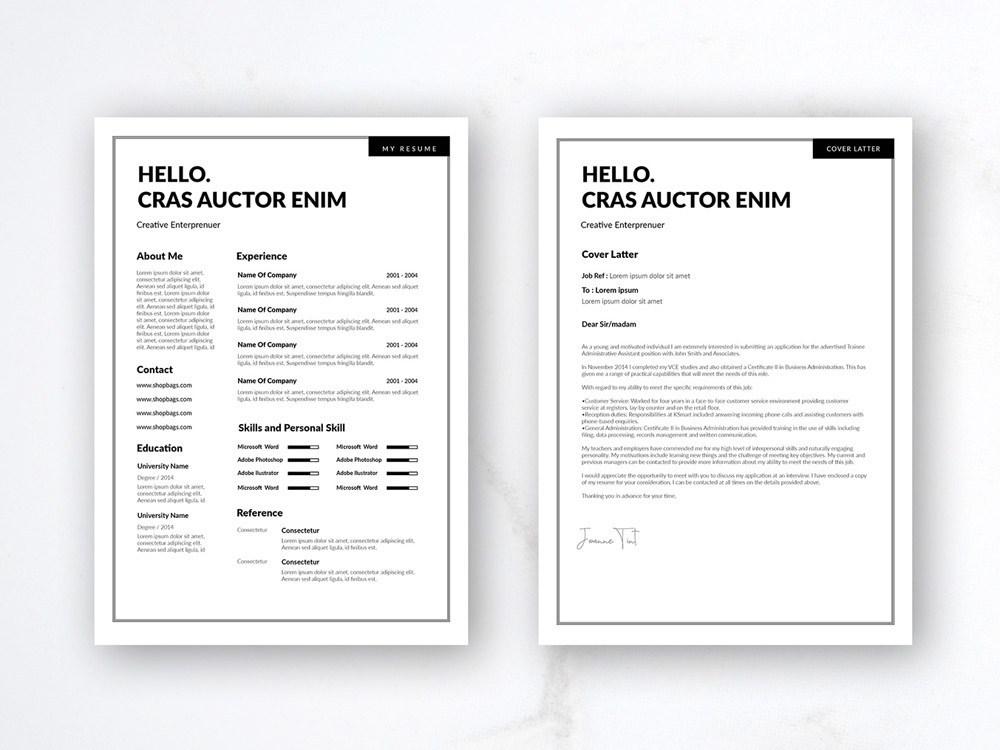 Free Minimalist Resume Template from cdn.dribbble.com
