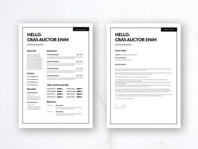 Free Minimalist CV/Resume Template
