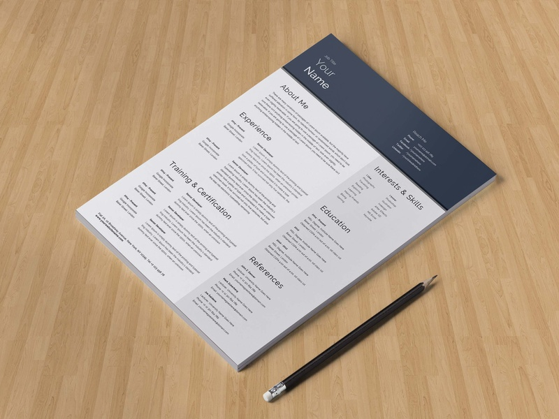 Free General Resume Template for Job Seeker by Alan ...