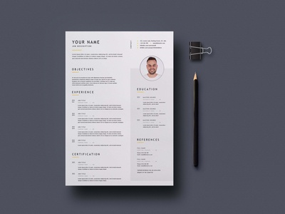 Free Simple Universal Resume Template