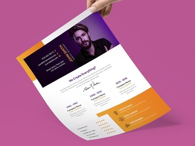 Free Flat Creative Resume Template