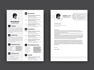 Free Resume Template with Matching Cover Letter cover letter free resume resume template design free resume template resume doc freebie freebies
