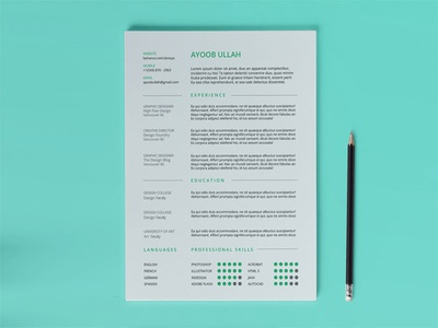 Free Any Industry Resume Template design free resume template resume freebie freebies
