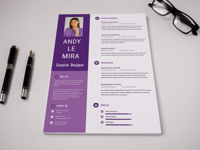 Free Clean Professional Resume Template curricular vitae photoshop free psd professional free cv curriculum vitae free resume template design resume freebie freebies