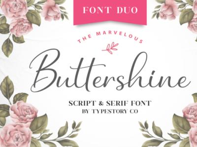Buttershine Font Duo