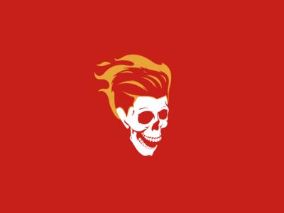 Scull logo fire scull hair vector branding inspiration logo graphic design design art illustration adobe illustrator