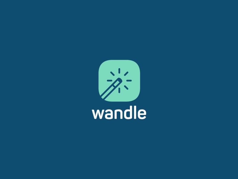 Wandle magic wand vector logo inspiration branding graphic design design adobe illustrator