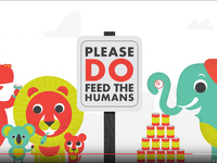 Please DO feed the humans: Hallmark + Harvesters Campaign