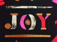Joy - papercut / collag-y thing