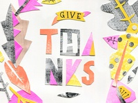 Give Thanks cut paper