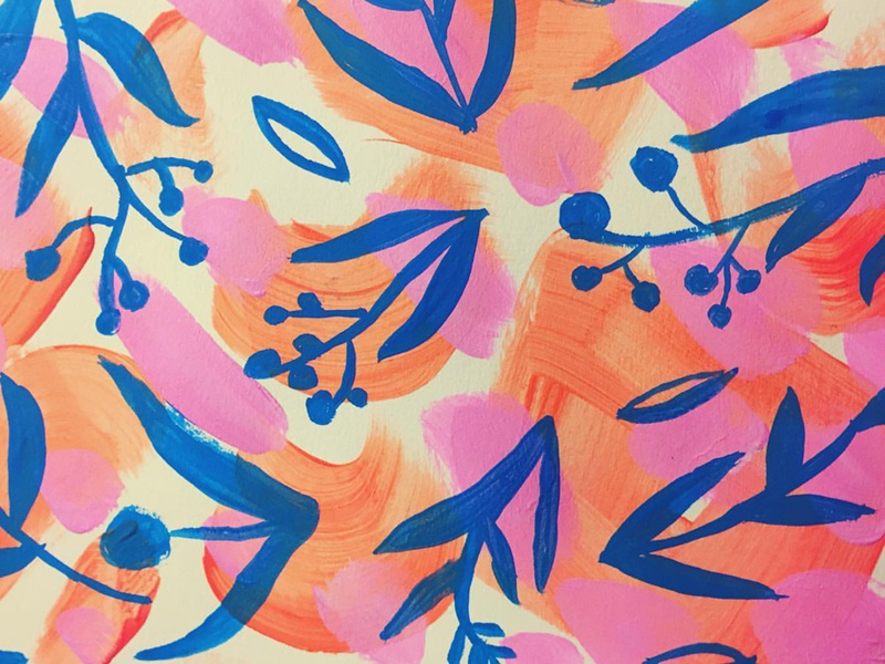 Pattern painting surface design floral pattern painting