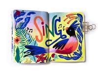 Songbird gouache
