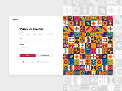 Chumbak Login/Register Screen