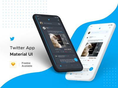 Twitter App Redesign - Light & Dark Theme