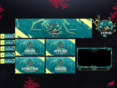Full twitch overlay package for #DRAGON-FISH!