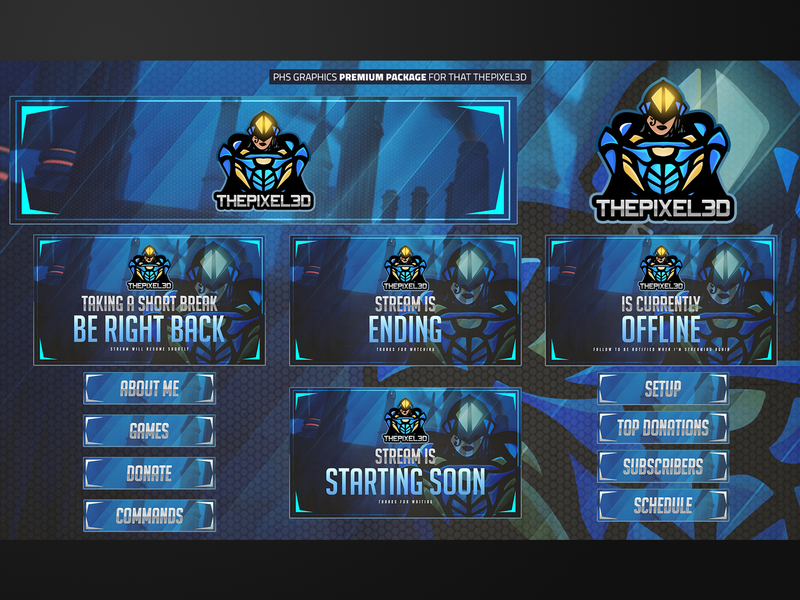 Full Twitch Package For ThePixel3D by PhsGraphix on Dribbble