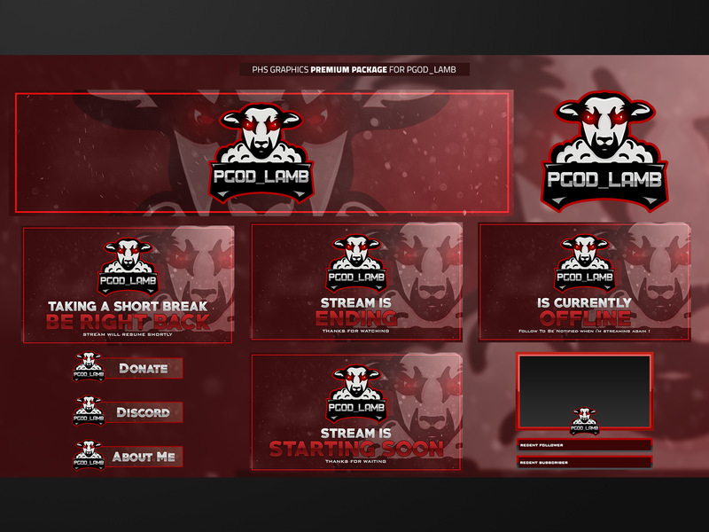 Full Twitch Package For JMLAMB by PhsGraphix on Dribbble