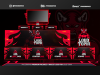 Full Twitch Package For Loud Topia