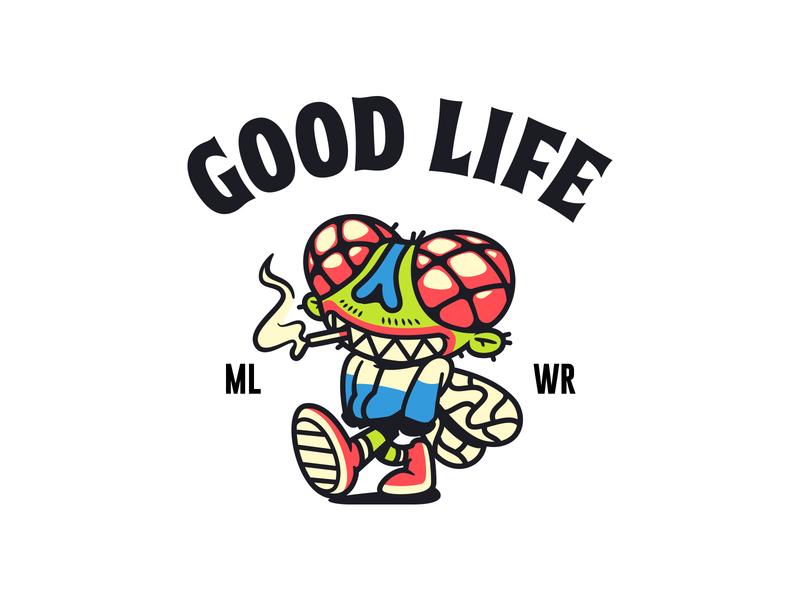 GoodLife fly illustration vector streetwear character design