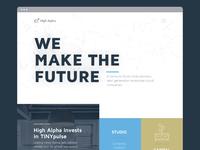 High Alpha Homepage